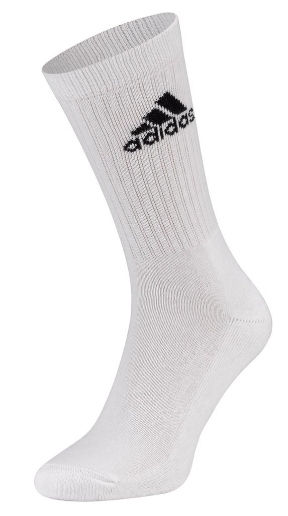 Ponožky adidas Crew Rib (3 ks) bílé - bílá -35-38