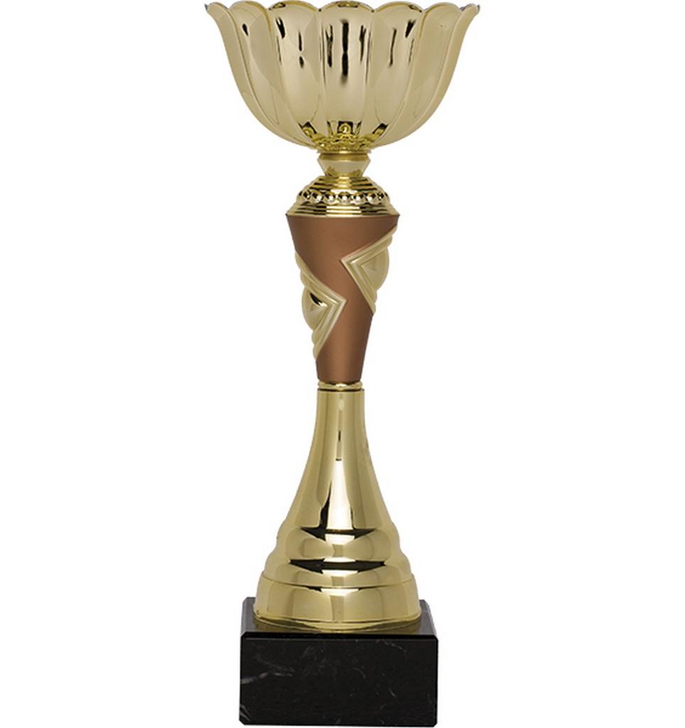 Pohár pro vítěze ENEBE Madrid motiv stolní tenis - zlatá -31 cm