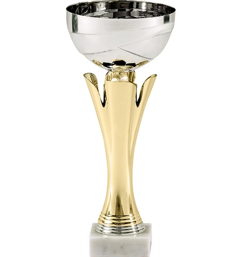 Pohár pro vítěze ENEBE Oro motiv stolní tenis - zlatá -35,5 cm