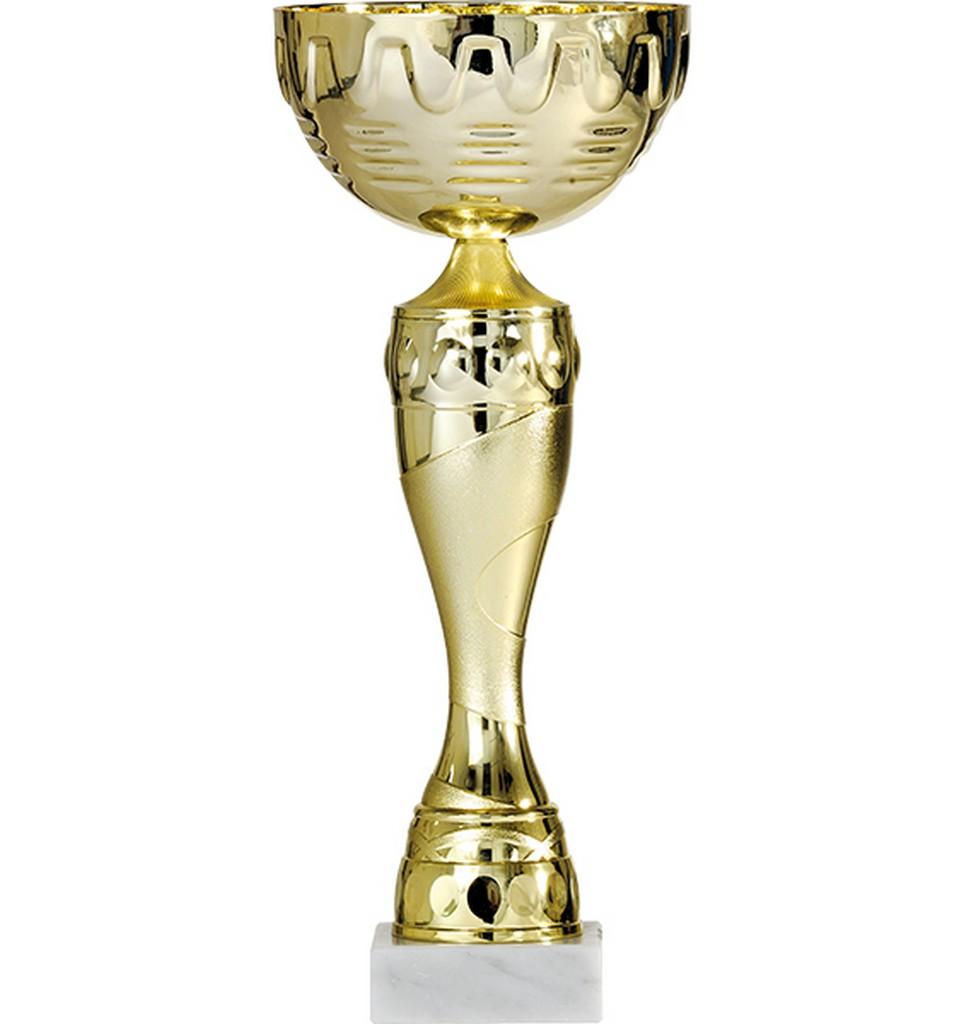 Pohár pro vítěze ENEBE Victory motiv stolní tenis - zlatá -30,5 cm
