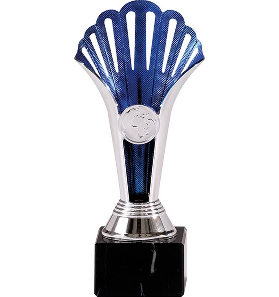 Pohár pro vítěze ENEBE World stříbrná motiv stolní tenis - stříbrná -19,5 cm