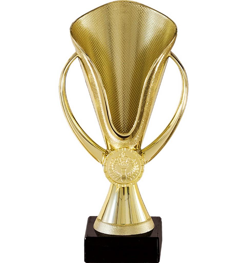 Pohár pro vítěze ENEBE Gold motiv stolní tenis - zlatá -14,5 cm