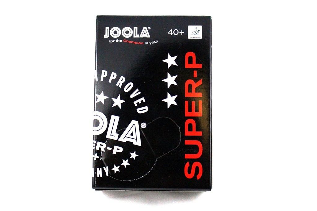 Míček JOOLA Super-P *** 40+ (6 ks) - bílá -40