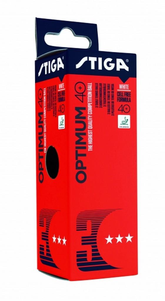 Míček STIGA Optimum 40+ *** (72ks) $ - bílá -40 mm