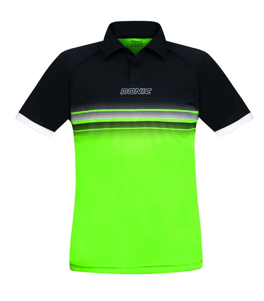 Polokošile DONIC Draft černo-zelená - černo-zelená -XXXXXL