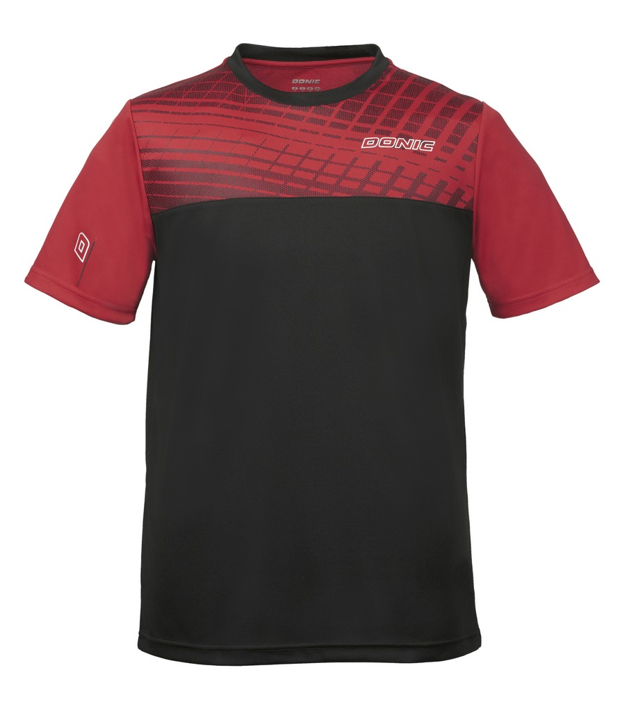 Tričko DONIC Vertigo černo-červené - černo-červená -M
