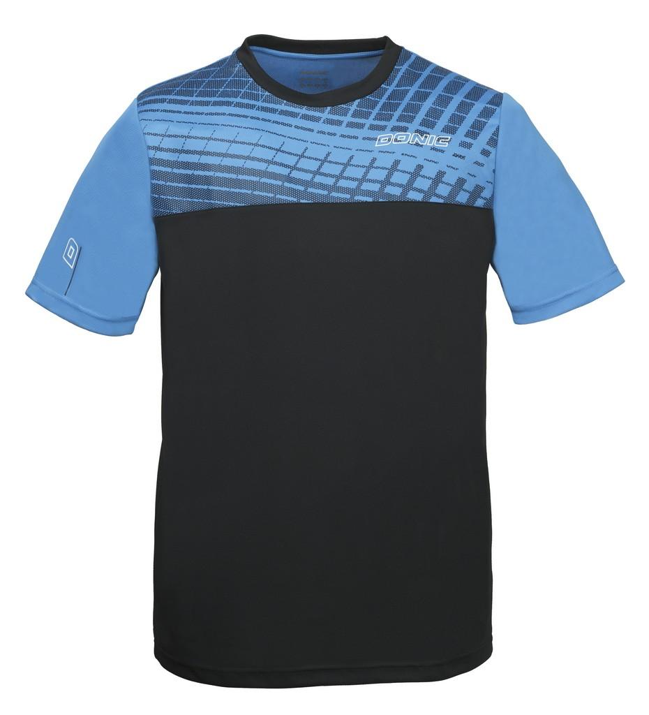Tričko DONIC Vertigo černo-modré - černo-modrá -140