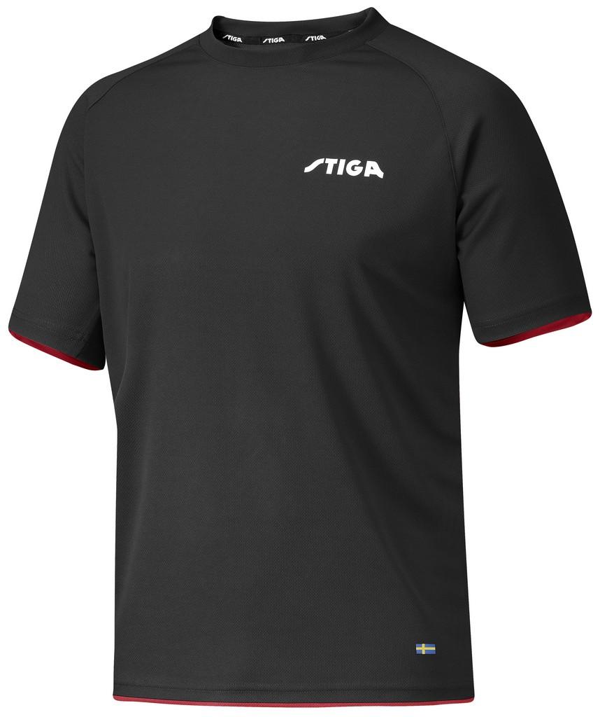 Tričko STIGA Excercise černé - černá -XXL