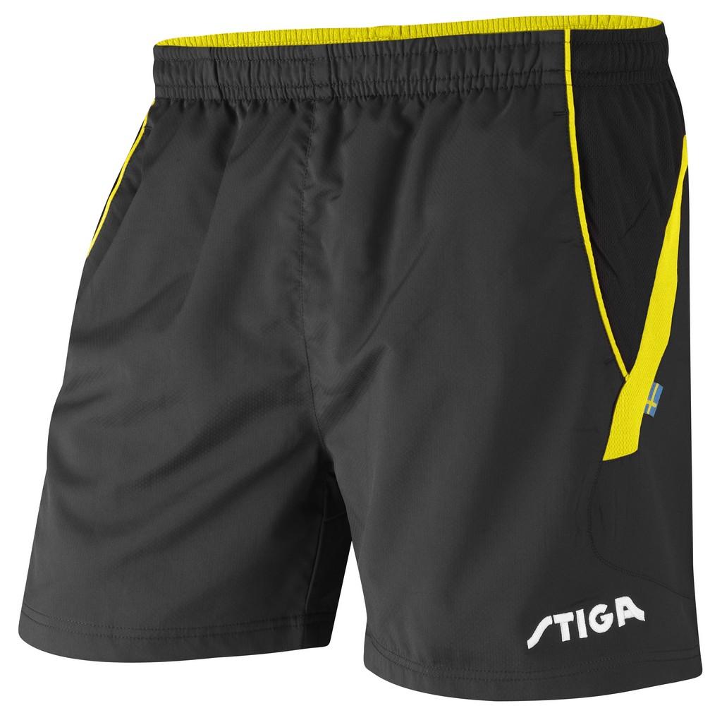 Šortky STIGA Victory černá se žlutýé - černá se žlutým -XXS