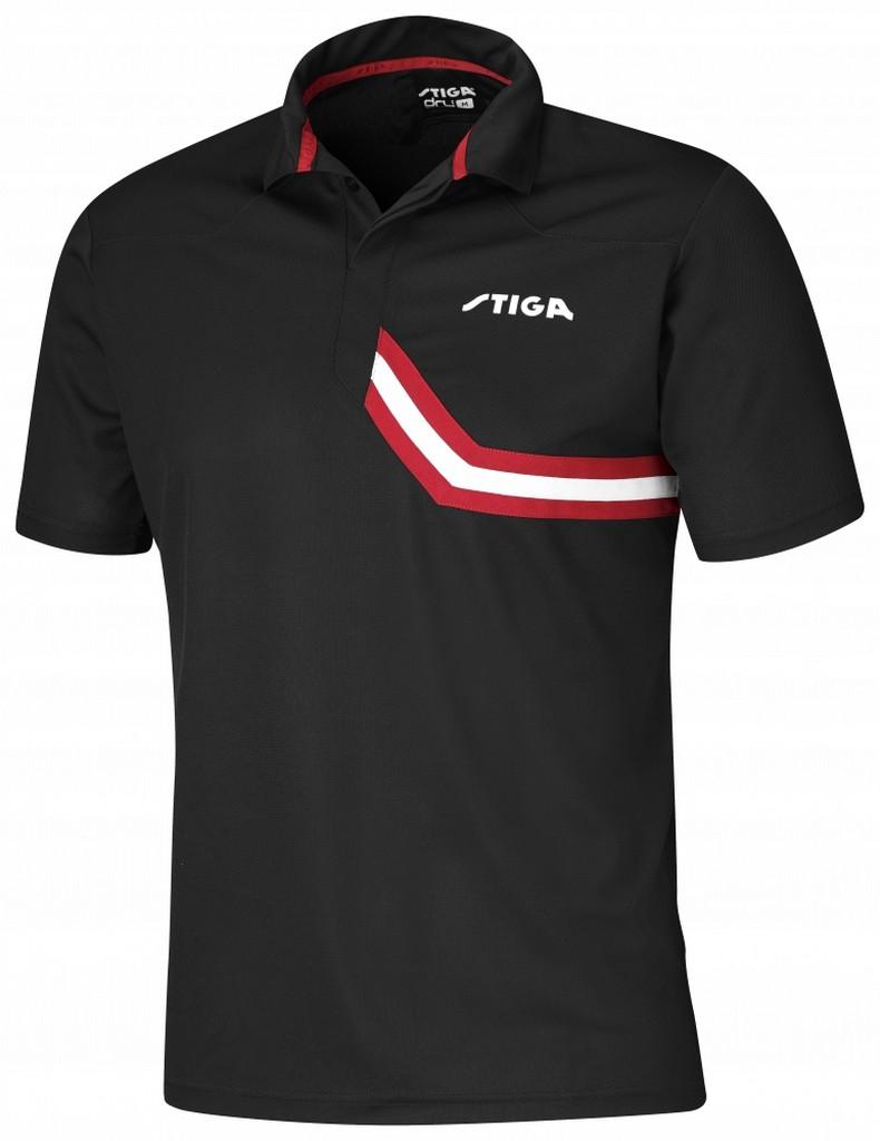Polokošile STIGA Conquer černá s červenýá - černá s červeným -XS