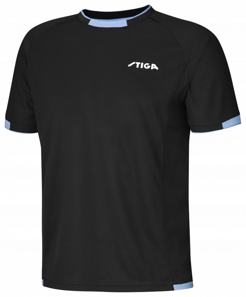 Tričko STIGA Capture černá s modrýé - černá s modrým -S