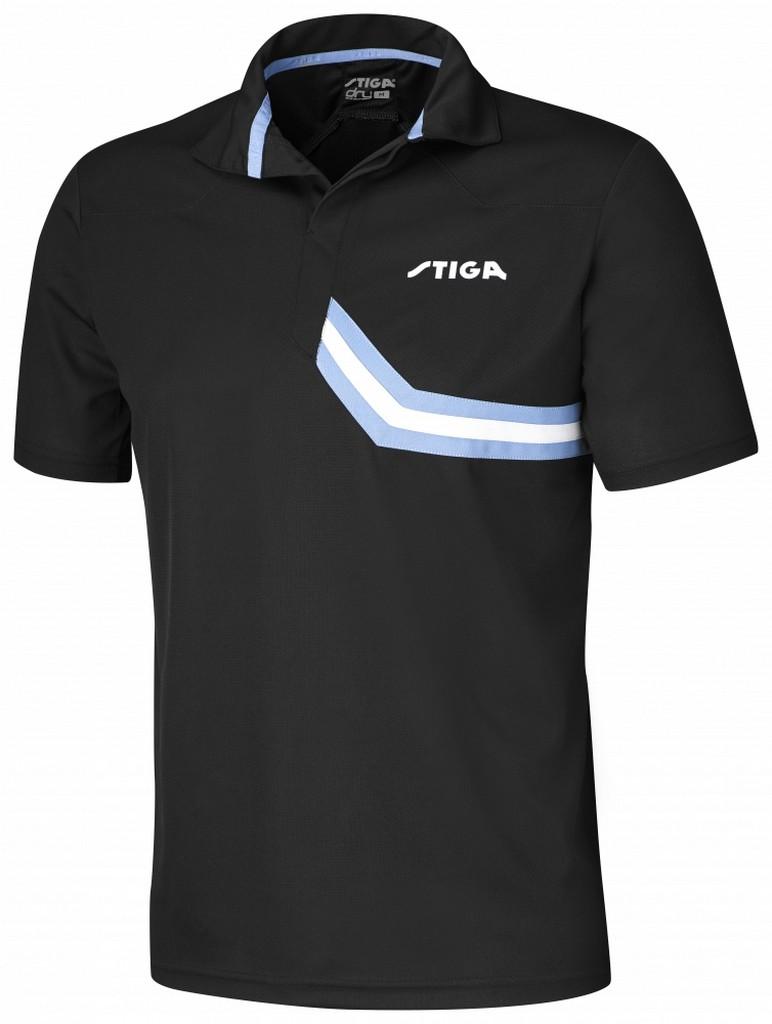 Polokošile STIGA Conquer černá s modrýá - černá s modrým -XS
