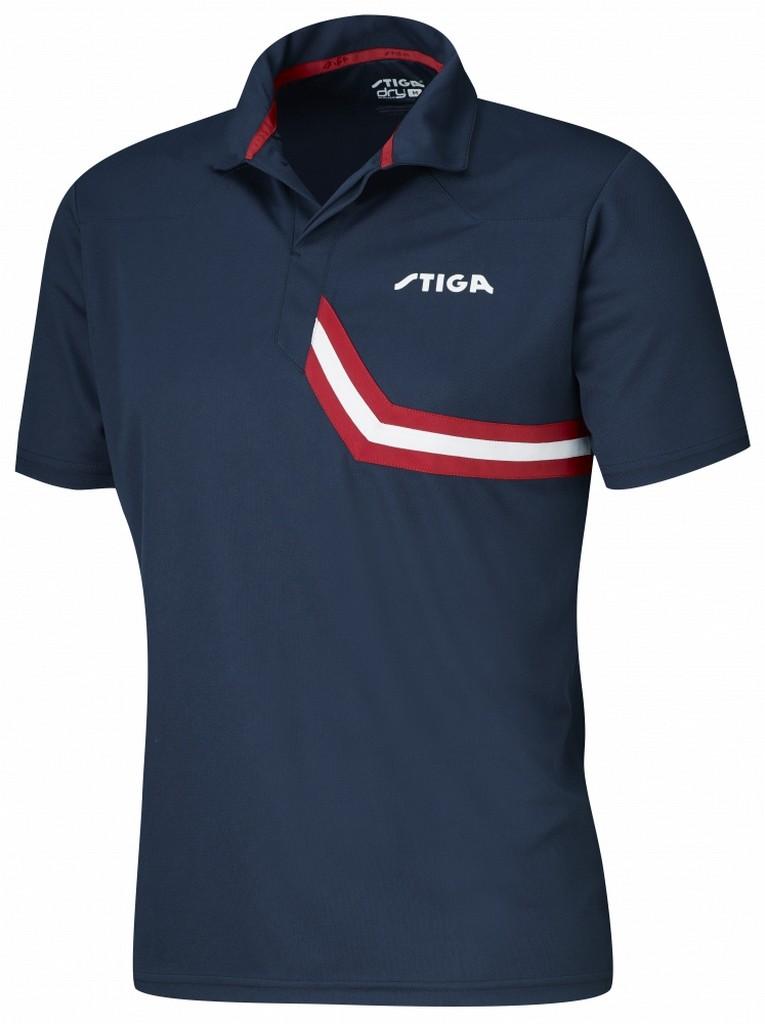 Polokošile STIGA Conquer modrá s červenýá - modrá s červeným -XS
