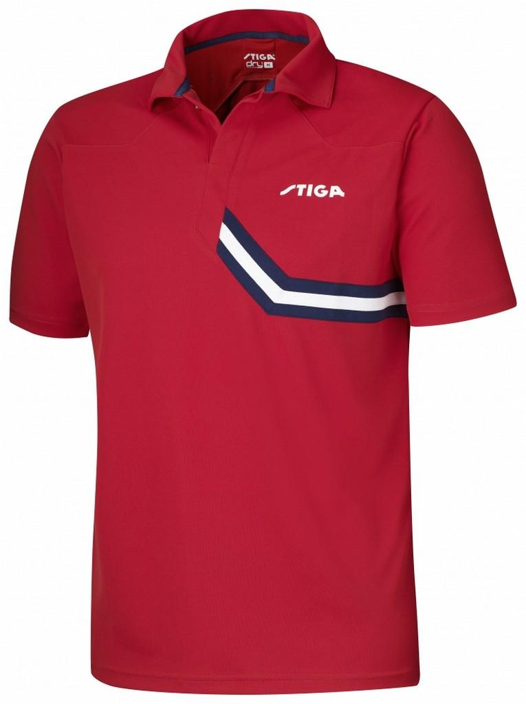 Polokošile STIGA Conquer červená s modrýá - červená s modrým -XXXL