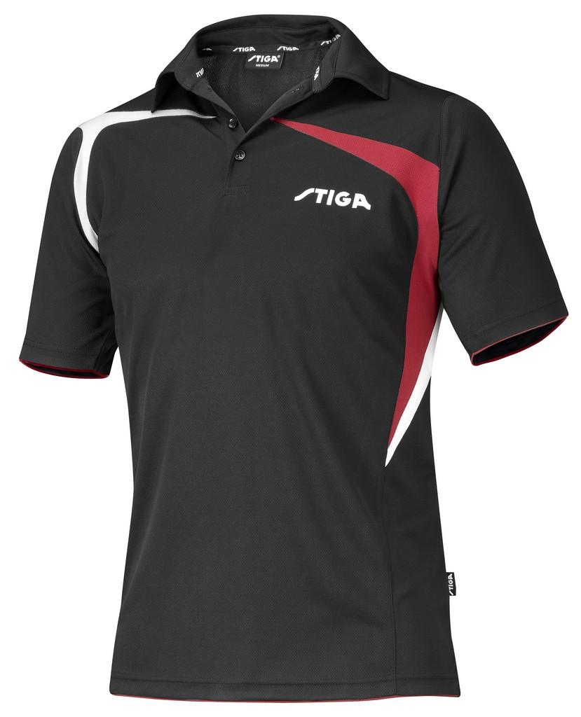 Polokošile STIGA Intense černá s červenýá - černá s červeným -XS
