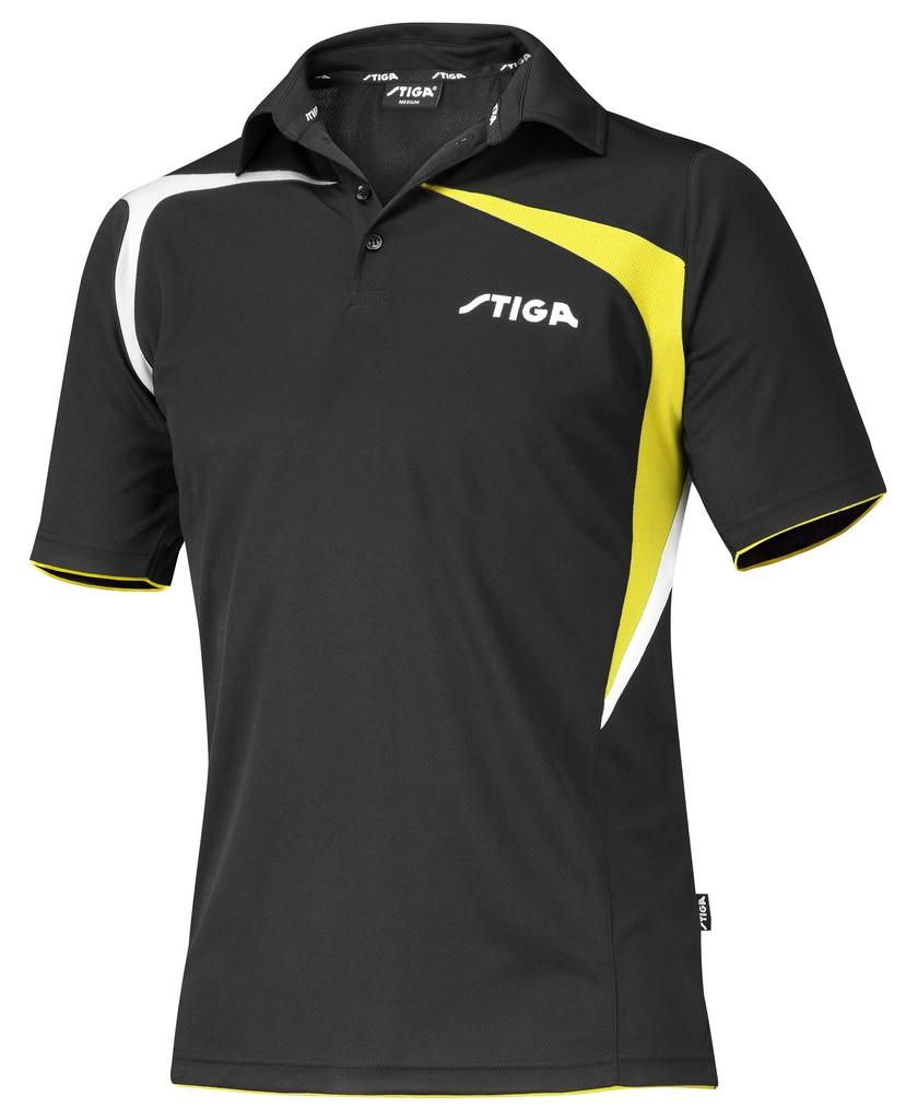 Polokošile STIGA Intense černá se žlutýá - černá se žlutým -XS