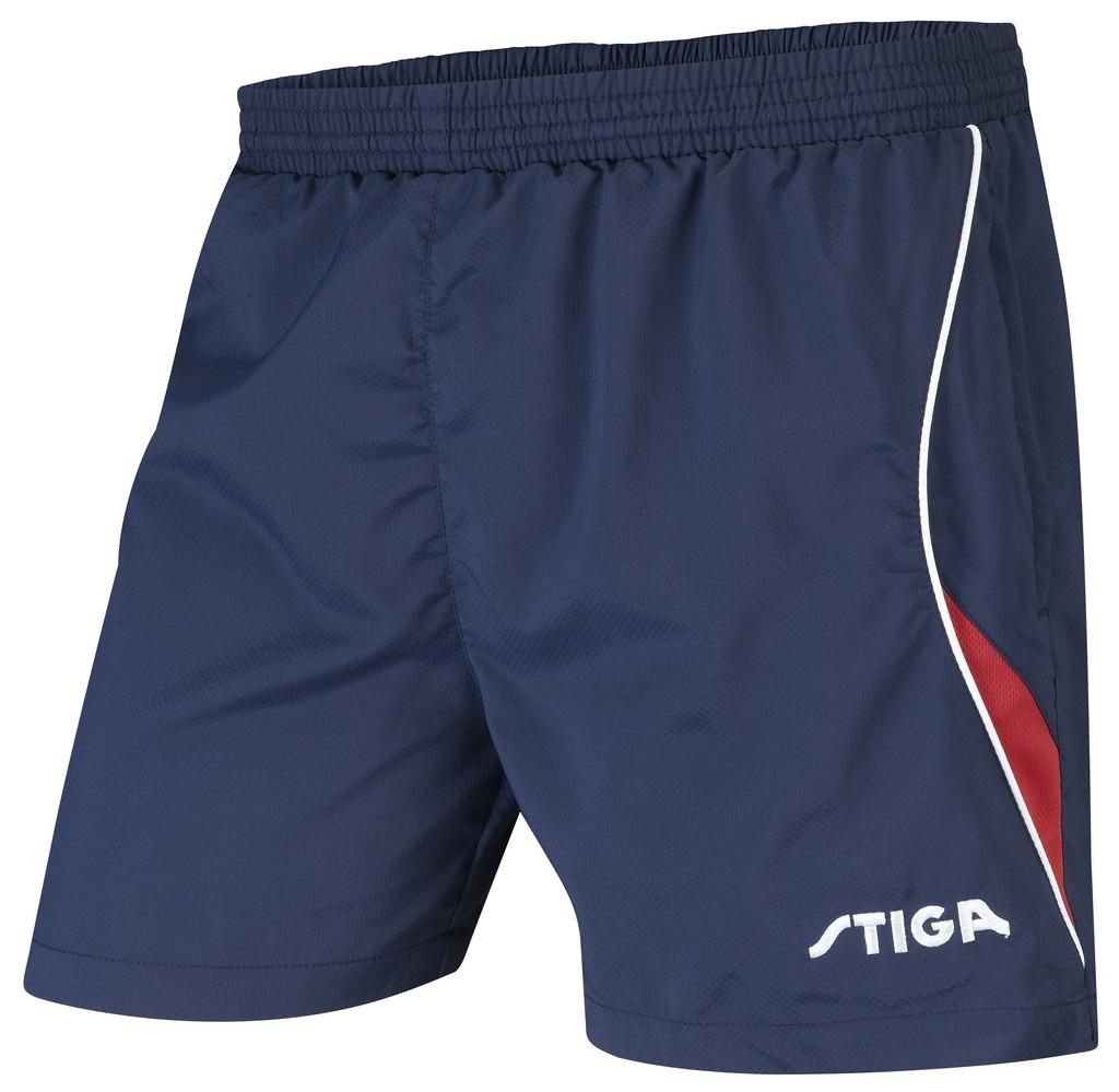 Šortky STIGA Fashion modrá s červenýé - modrá s červeným -S
