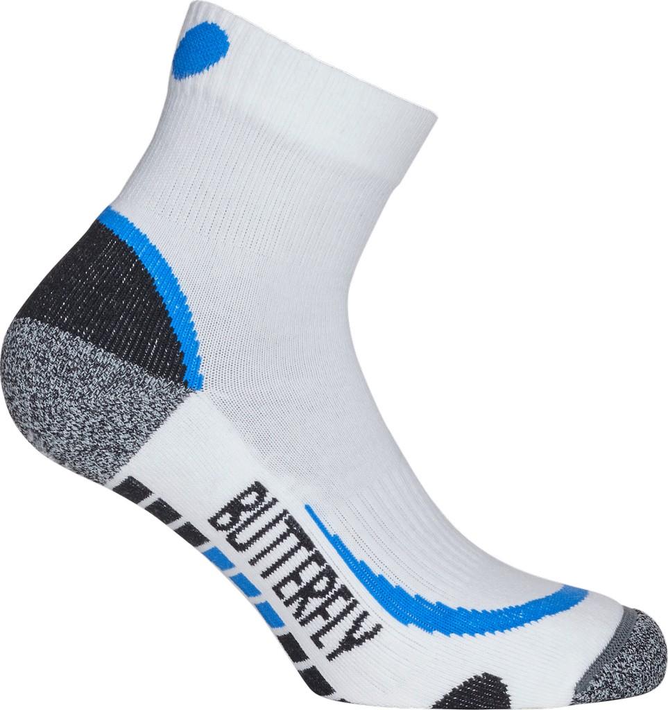 Ponožky BUTTERFLY Hisa bílá/modré - bílá/modrá -M (38-41)