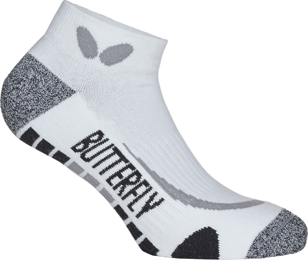 Ponožky BUTTERFLY Hisa kotníkové bílá/černé - bílá/černá -M (38-41)