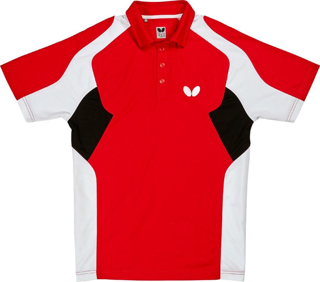 Polokošile BUTTERFLY Shiro červená - červená -XXL