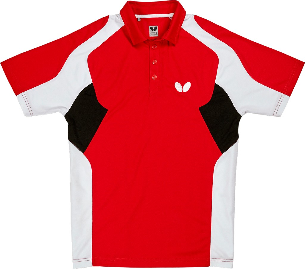 Polokošile BUTTERFLY Shiro červená - červená -XXXXL