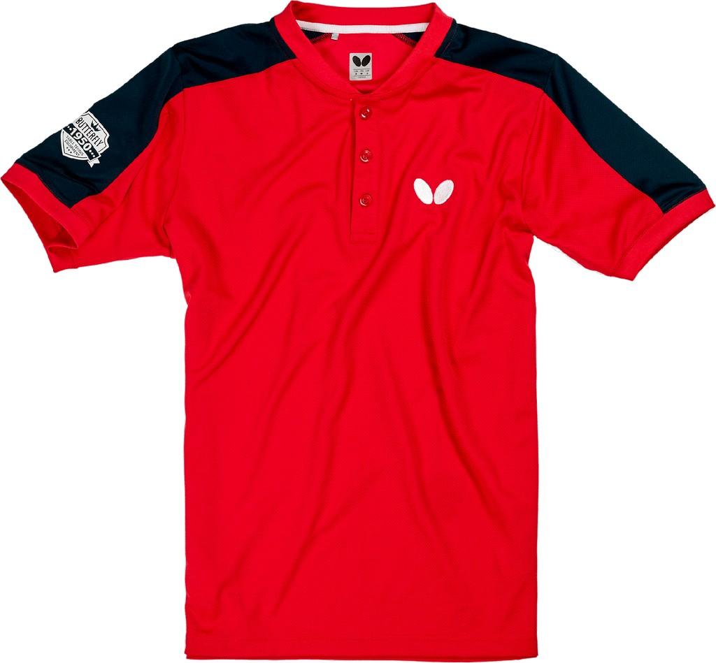 Polokošile BUTTERFLY Takeo červená - červená -XXXXL