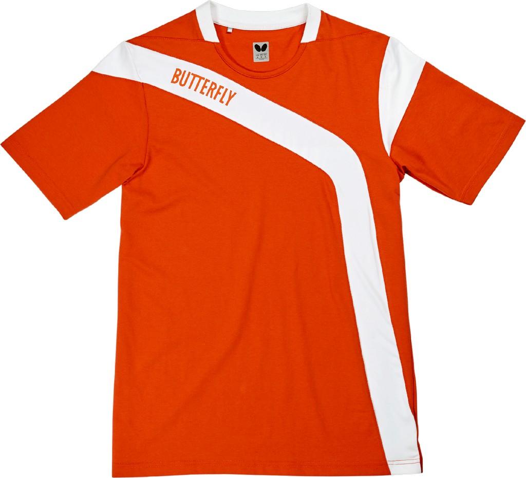 Polokošile BUTTERFLY Yasu (bavlna) oranžová - oranžová -XXXXL