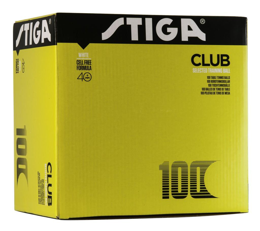 Míček STIGA Club Poly 40+ (100ks) - bílá -40+