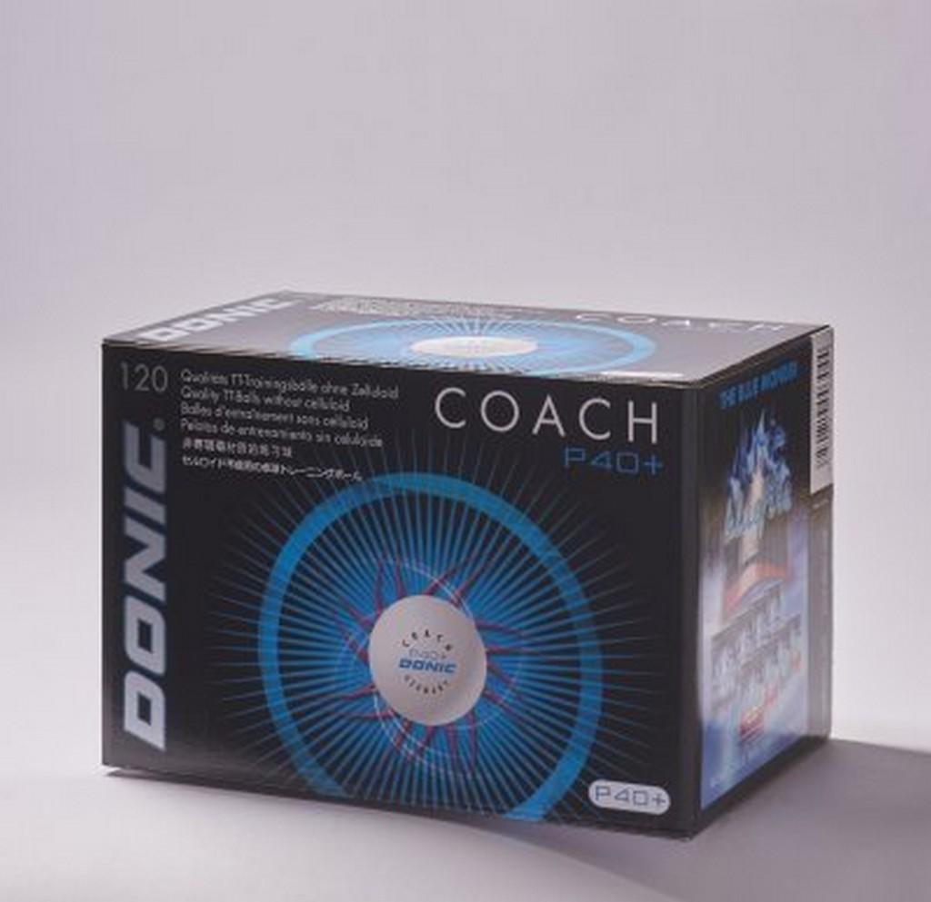 Míček Donic Coach P40+ (120 ks) - bílá -40+