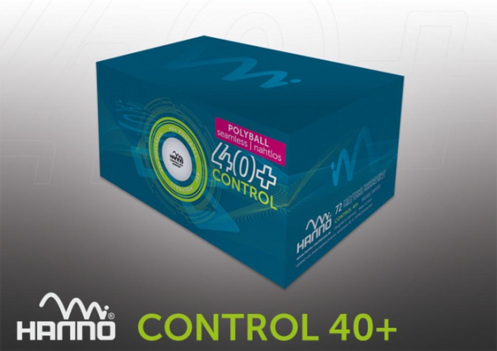 Míček HANNO Control ** 40+ (72ks) - bílá -40+