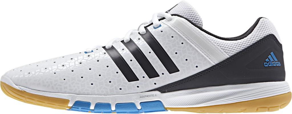 Boty adidas Courtblast Elite - bílá/modrá -40