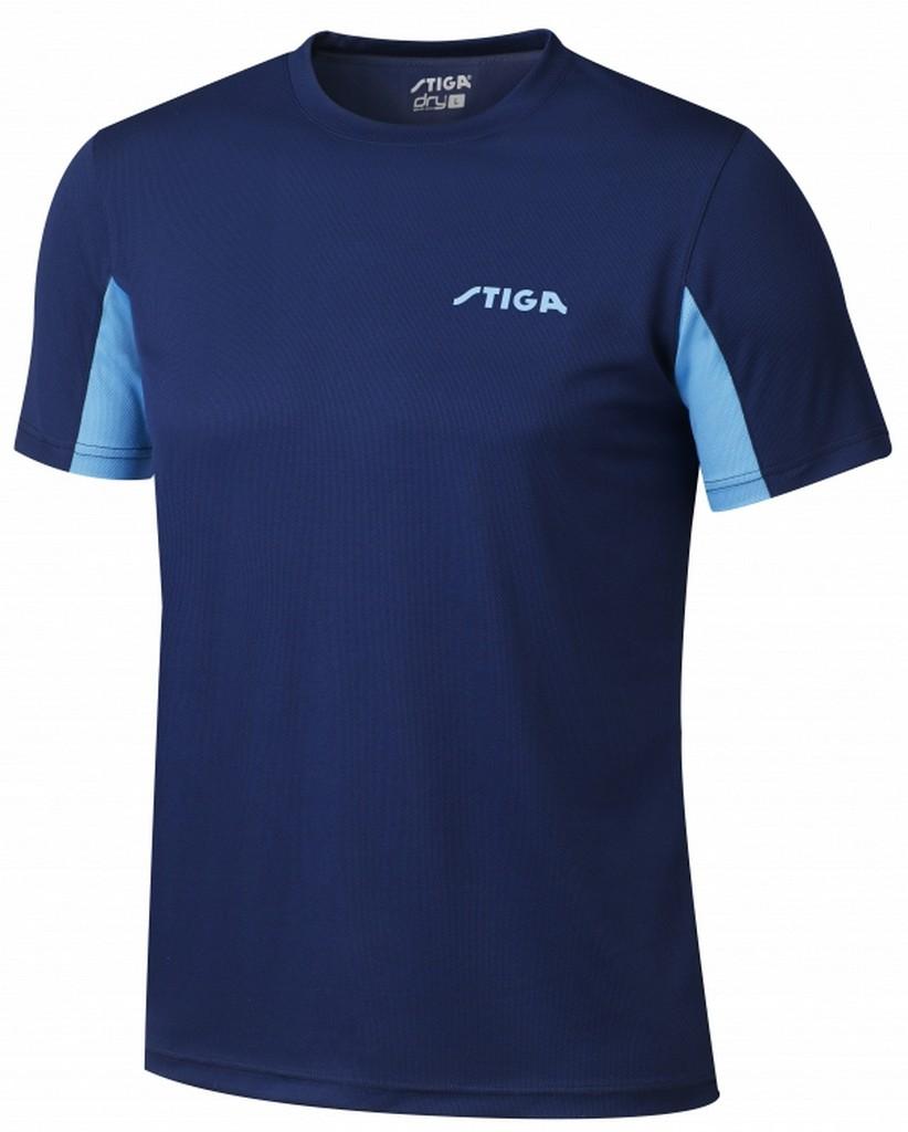 Tričko STIGA Atlantis tmavě modré - tmavě modrá -XXS
