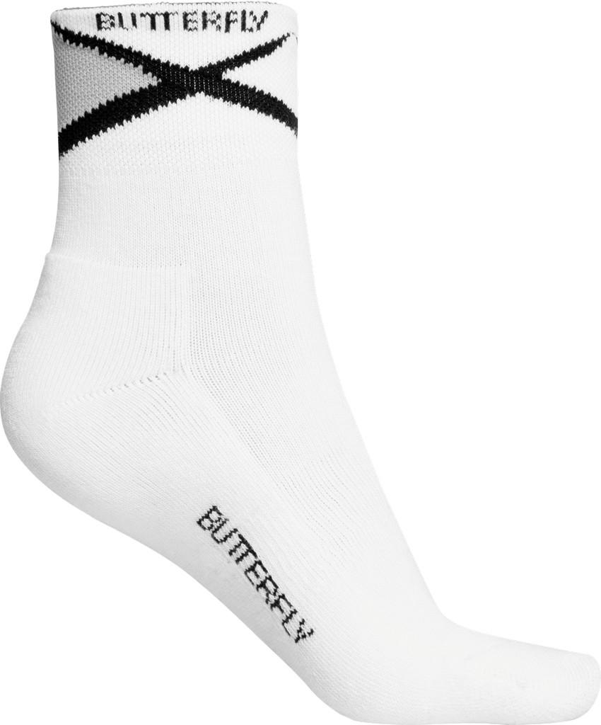Ponožky BUTTERFLY Ayado bílá/černé - bílá/černá -M (38-41)