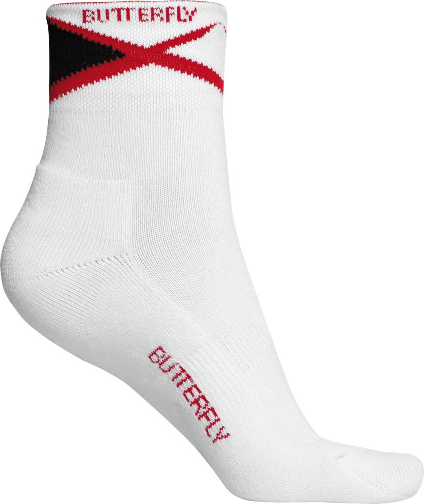 Ponožky BUTTERFLY Ayado bílá/červené - bílá/červená -M (38-41)