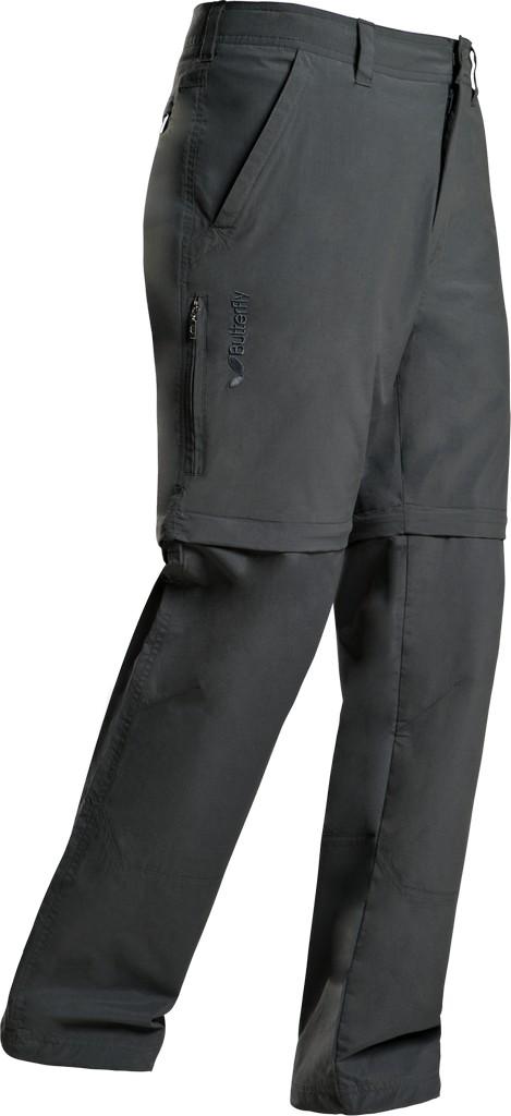 Kalhoty BUTTERFLY Zip-Off antracitové - antracitová -XL