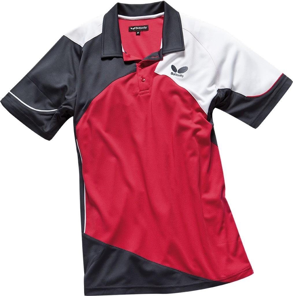 Polokošile BUTTERFLY Toyo červená - červená -XXXXL