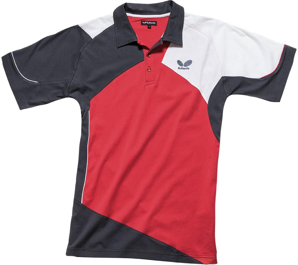 Polokošile BUTTERFLY Toyo (bavlna) červená - červená -128