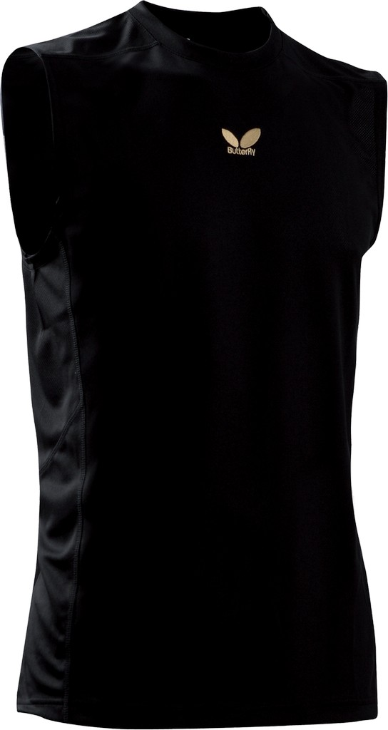Tričko BUTTERFLY Gold (bez rukávů) černé - černá -L