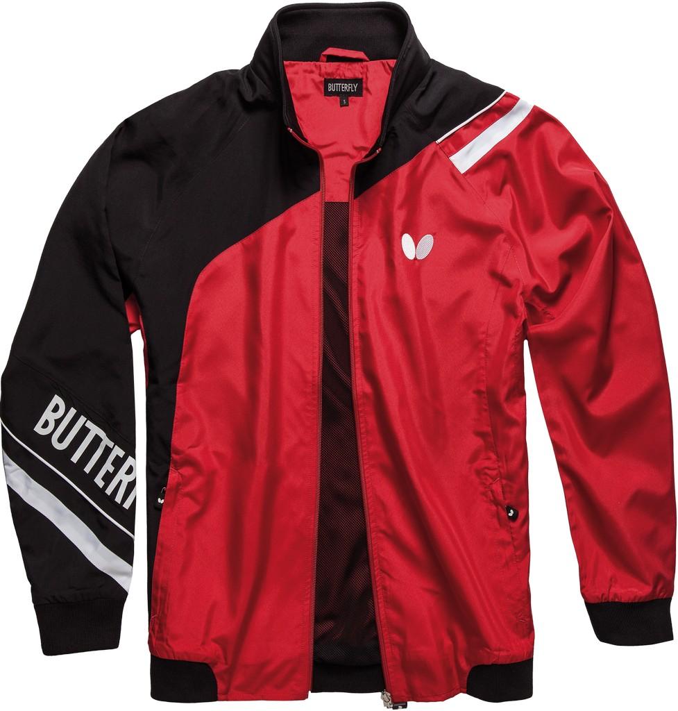 Bunda k soupravě BUTTERFLY Taori - červená - červená -XL