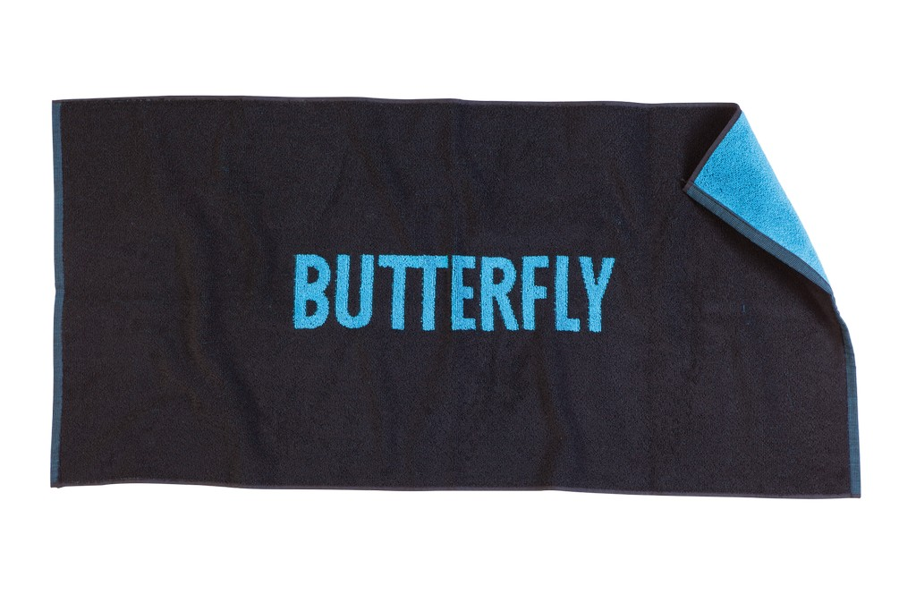 Ručník BUTTERFLY Logo černý - černá -50 x 100 cm