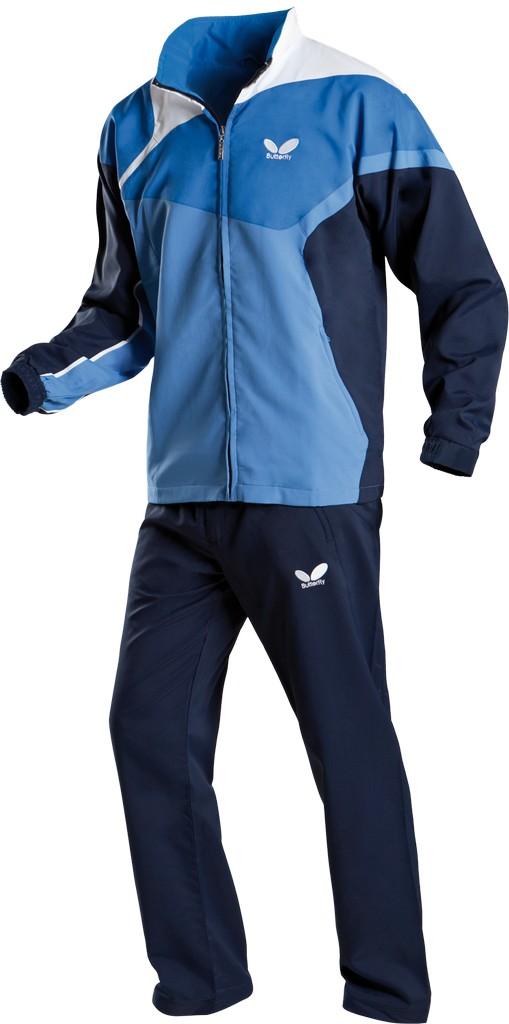 Kalhoty k soupravě BUTTERFLY Fior- modrá - modrá -XS