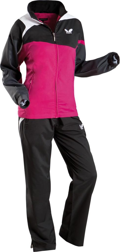 Kalhoty k soupravě BUTTERFLY Fior Lady- černá - černá -XL