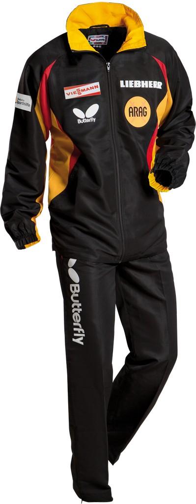 Kalhoty k soupravě BUTTERFLY Germany2- černá - černá -S