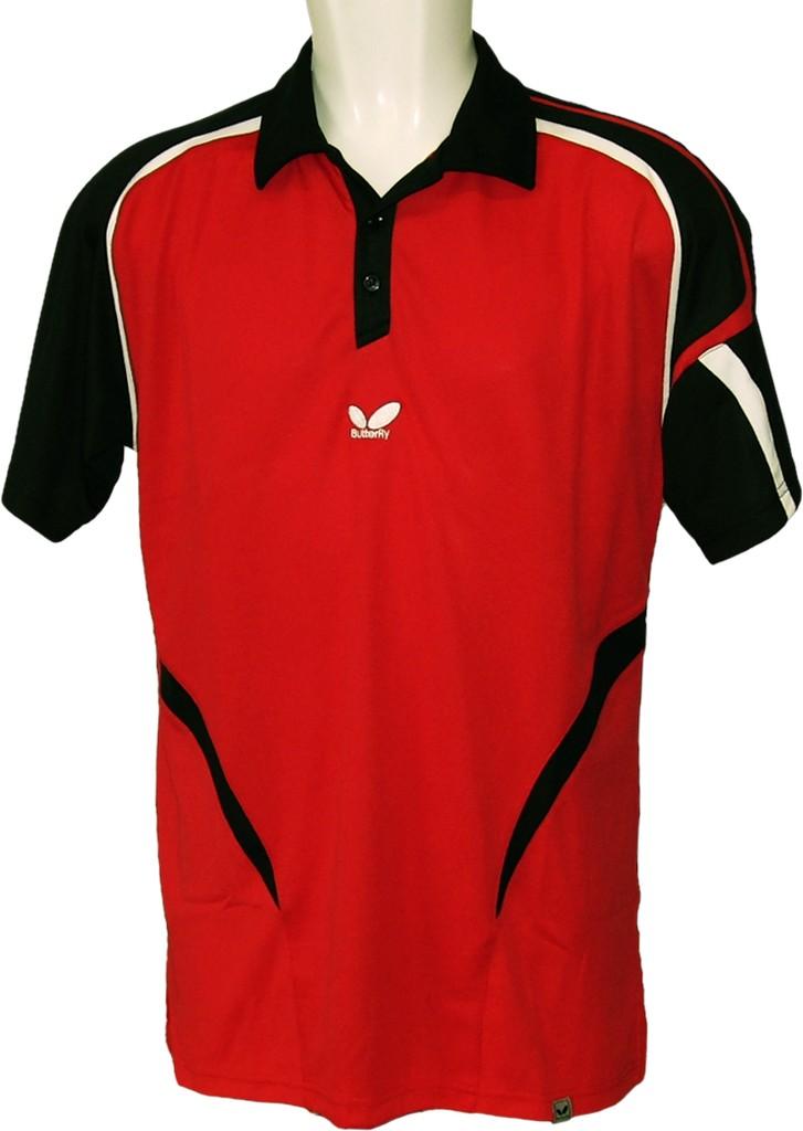 Polokošile BUTTERFLY Benito (bavlna) červená - červená -XL