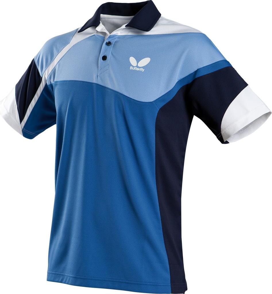 Polokošile BUTTERFLY Fior (bavlna) modrá - modrá -XXXXL