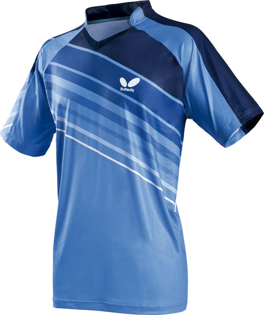 Polokošile BUTTERFLY Pelluci modrá - modrá -XXXXL