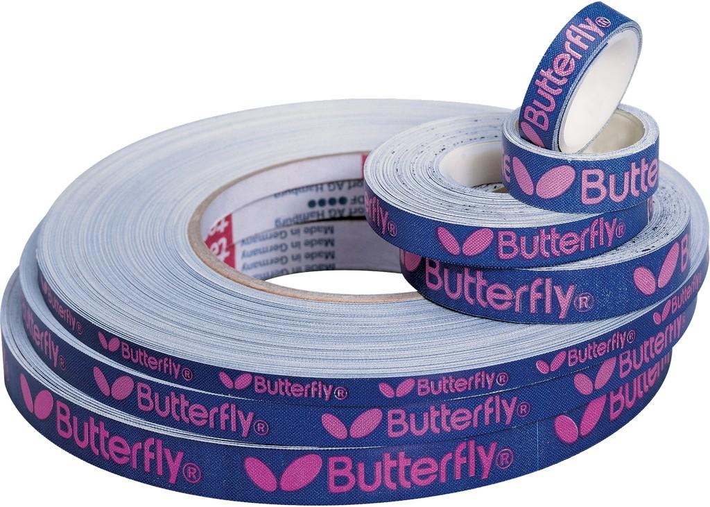 Páska na pálku BUTTERFLY Páska Logo 6 mm - modrá-růžová -50 m