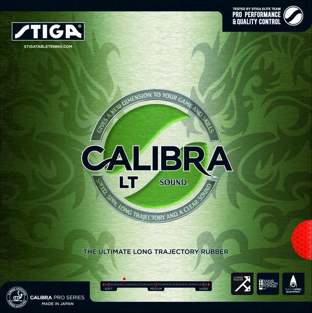 Potah STIGA Calibra LT Sound - červená -