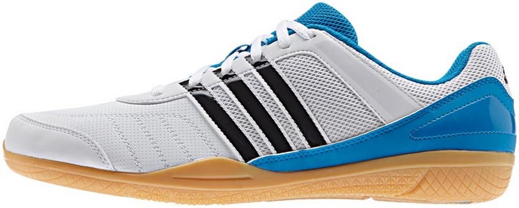 Boty adidas Courtblast Team - bílá/modrá -36 2/3