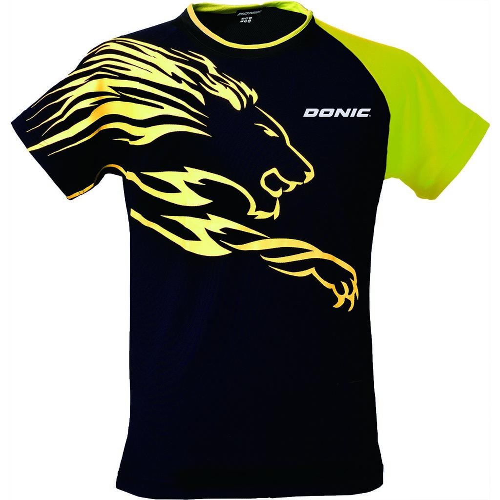 Tričko DONIC Lion černo-žluté - černo-žlutá -M